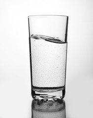 a glass isolated on white