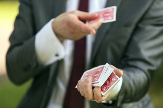 Magician card trick
