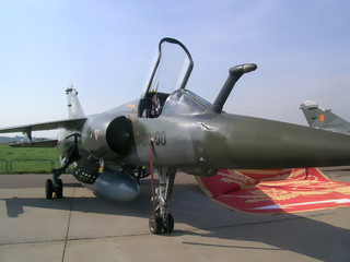 French fighter aircraft at MAKS exhibition