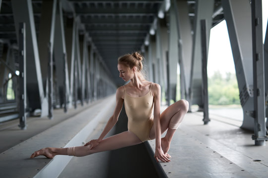 Portrait of young and graceful ballerina