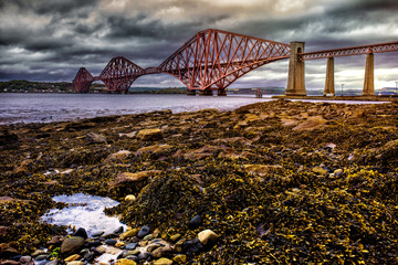 Dramatic view of the Forth Road Bridge