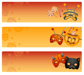 Halloween collection of banners.