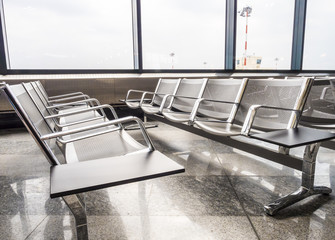 A picture of new benches at the airport