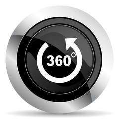 panorama icon, black chrome button