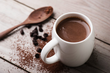 Photo sur Toile Chocolat hot chocolate