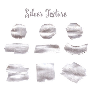 Silver texture. A water color background for festive inscription