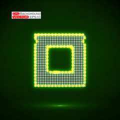 Neon Cpu. Microprocessor. Microchip. Technology background
