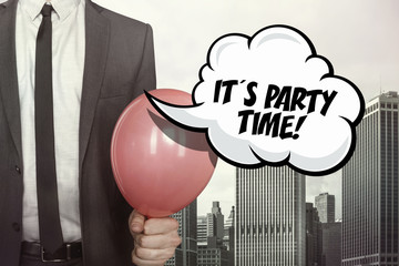 Its party time text on speech bubble