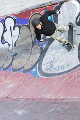 skating on a skating park