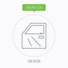 Car door icon. Automobile lock sign.