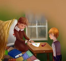Дети. Мальчик и девочка