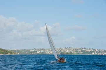 Sailing boat, Sydney Darling Harbour , Australia.