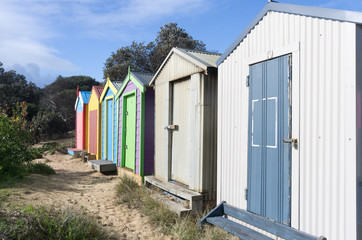 Six bathing boxes
