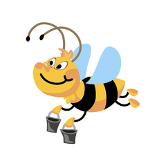 cartoon vector bee
