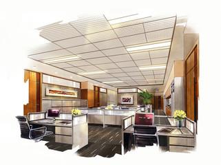 Great Sketch Perspective Interior,rendering Perspective