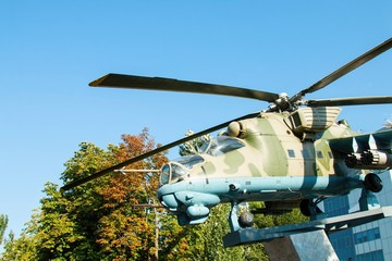 Russian helicopter Mi - 24 monument.