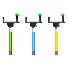 Three different color Monopods