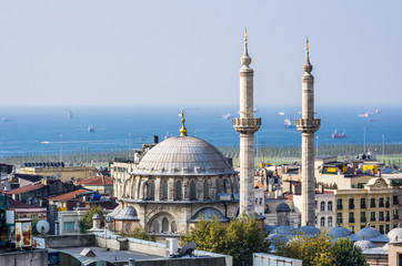 Top view on mosque in Istanbul