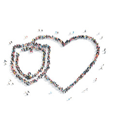 people in the shape of heart .