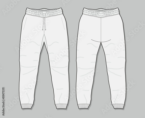 Quot Sweatpants Template Quot Stock Image And Royalty Free Vector