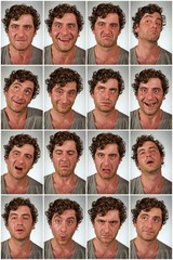 Real Person Expressions Collage