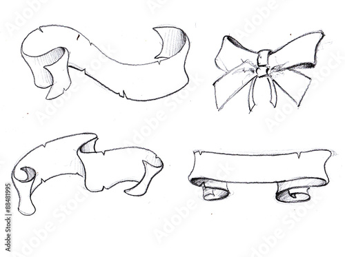 Banderole croquis stock photo and royalty free images on - Dessin banderole ...