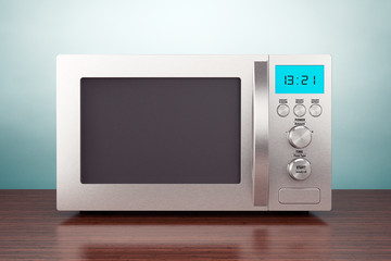 Old Style Photo. Microwave Oven