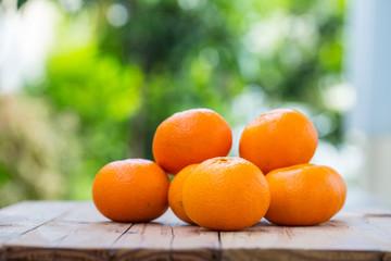 Ripe Orange and cross section