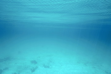 Underwater sea surface and ripples natural scene