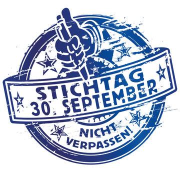 Stempel Stichtag 30 September