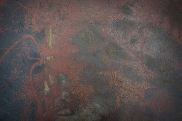 metal surface with rust texture as background ..