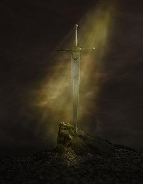 Excalibur Schwert Szene Light