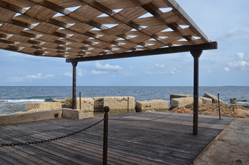 Pergola over the Mediterranean Sea