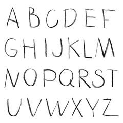 Chalk hand drawing alphabet