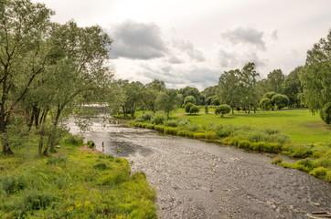 River Pskova in Pskov