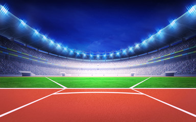 athletics stadium with javelin throw post