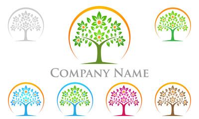 finance, eco, flora, green, logo