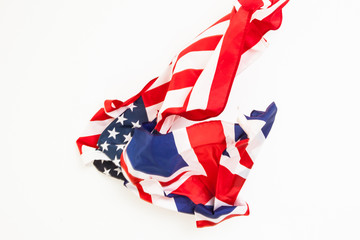 The fall of the flag of the United States and Great Britain