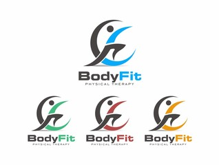 Body Fit v.1 Logo Vector