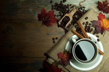 Coffee background autumn