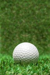 golf ball recumbent on grass