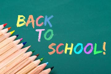 back to school written on board