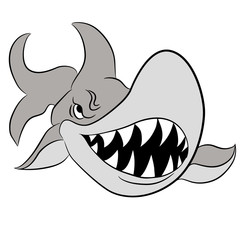 Cartoon Great White Shark