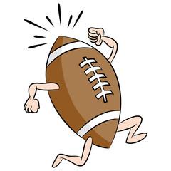 Running Cartoon Football
