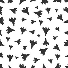 seamless pattern with ghost