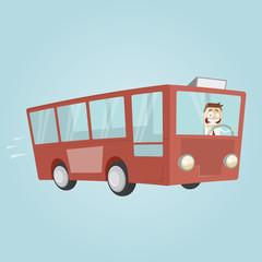 bus transport lustig männchen