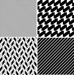 vector seamless retro patterns set