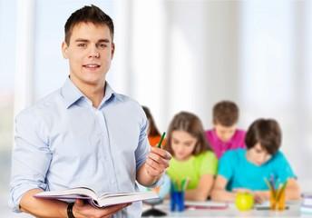 Teacher, classroom, school.