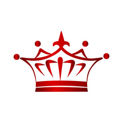 Crown icon, logo design element for business