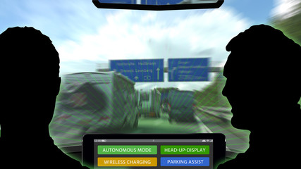 adi3 AutonomousDrivingIllustration - autonomous driving with tablet pc - 16to9 g3795